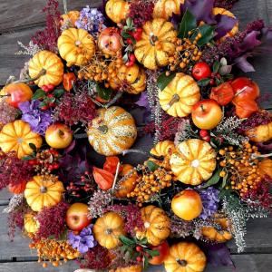 Pumpkin gourd wreath