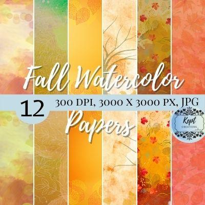 Fall Watercolor Paper Mock up